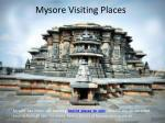 Tourist Visiting Places Near Mysore