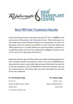 Best PRP Hair Treatment Results