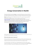 Energy Conservation in Nashik