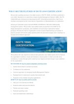ISO TS 16949 Certification Body in India | Automotive Quality Management System Certification