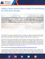 Military Boots Market Shows Stellar Growth During the 2016-2021 Timeline