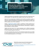 Projected Capacitive Touchscreen PCs for CCTV Solutions in Logistics