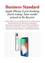 Apple iPhone X pre-booking starts today; base model priced at Rs 89,000