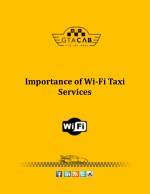 Importance of Wi-Fi Taxi Services