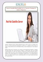 Step by Step Red Hat Satellite Server Coporate Training To Achieve Objectives