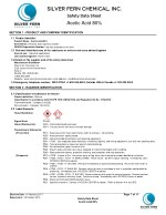 Safety Data Sheet of Acetic Acid 80% at Silver fern chemical