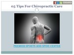 5 Tips for chiropractic care