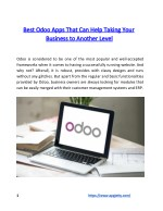 Best Odoo Apps That Can Help Taking Your Business to Another Level
