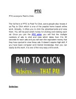 PTC Sites That Really Pay