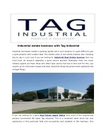 Industrial estate business with Tag Industrial