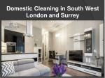 Domestic Cleaning in South West London and Surrey