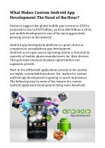 What Makes Custom Android App Development The Need of the Hour?