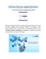 Online Doctor Appointment Booking