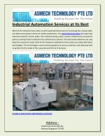 Industrial Automation Services at Its Best