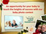 Join the Baby model contests:
