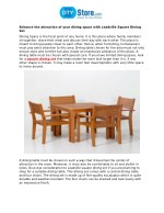Enhance The Attraction Of Your Dining Space With Leadville Square Dining Set
