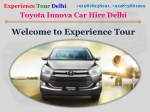 Hire innova in Delhi for tour package