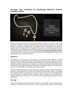Increase Your Collection by Purchasing Women's Fashion Jewellery Online