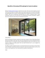 Benefits of choosing UPVC glazing for home insulation