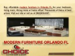 Contemporary Furniture Showroom FL