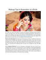 Makeup Tips To Remember As A Bride
