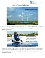 What is Alternative Energy