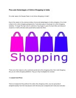 Pros and Advantages of Online Shopping in India