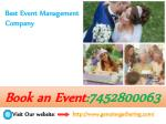 Best Event Management Companies in Delhi