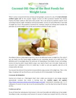 Coconut Oil: One of the Best Foods for Weight Loss