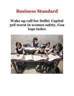 Wake up call for Delhi: Capital 3rd worst in women safety, Goa tops index