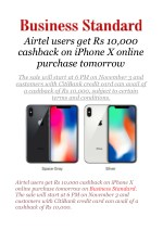 Airtel users get Rs 10,000 cashback on iPhone X online purchase tomorrow