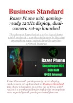 Razer Phone with gaming-ready 120Hz display, dual-camera set-up launched