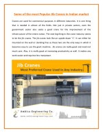 Jib Crane - The Best Mechanism for Industries Use