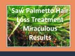 Saw Palmetto Extract Supplements for Male