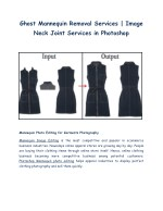 Mannequin Photo Editing   Ghost Mannequin Removal or Image Neck Joint Services