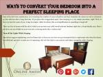Ways to Convert Your Bedroom into a Perfect Sleeping Place