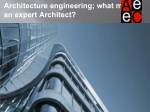 Architecture engineering; what makes an expert Architect?