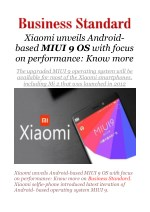 Xiaomi unveils Android-based MIUI 9 OS with focus on performance: Know more