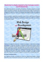 Should You Use Display Material In Your Web page Growth - An SEO Perspective