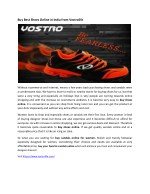 Buy Best Shoes Online in India from Vostrolife
