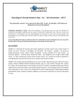 Chandigarh Establishment Day: 1st - 5th November, 2017