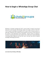 How to begin a WhatsApp Group Chat