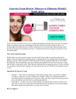 Lutrevia Cream Review: Skincare to Eliminate Wrinkle| South Africa