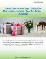 Express Gifts Delivery: Send Online Gifts, Flowers, Cakes to India - Same Day Delivery Guaranteed