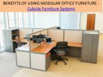 Benefits of using modular office furniture