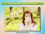 How Spring Cleaning Can Help You Survive Hay-Fever?
