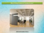 Why of Hiring Commercial Cleaning Services?