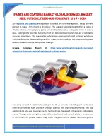Paints and Coatings Market Global Scenario, Market Size, Outlook, Trend and Forecast, 2015 – 2024