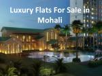 Luxury Flats For Sale in Mohali