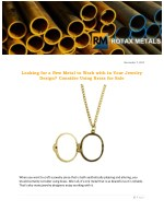 Looking for a New Metal to Work with in Your Jewelry Design? Consider Using Brass for Sale